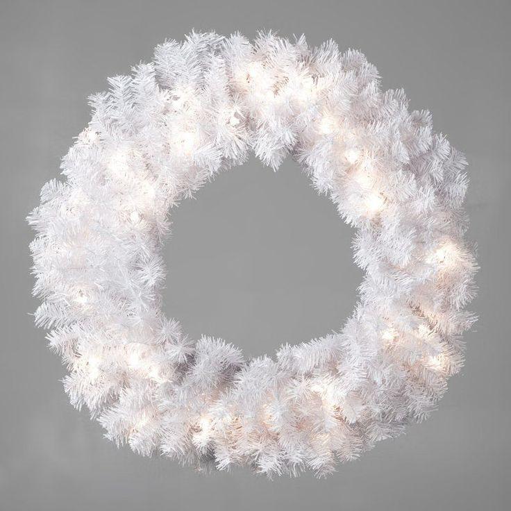 24 in. Winter Park Pre-lit Wreath - TI920-W300E-50LC