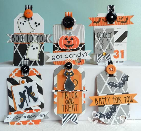 Spooky Cuties Halloween Tags by nancyt - Cards and Paper Crafts at Splitcoaststampers