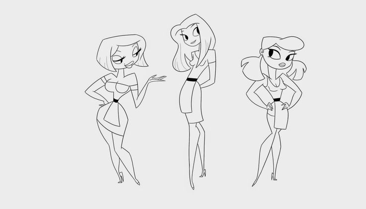 Here are my waitresses i drew.