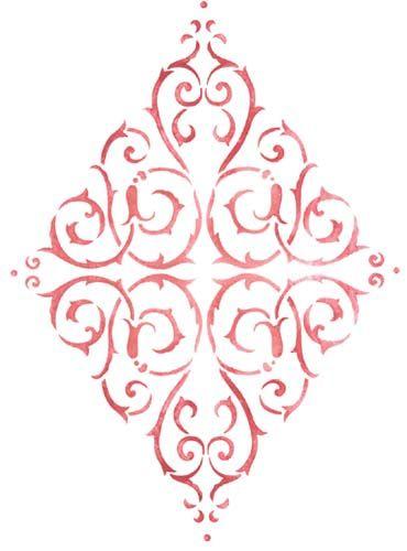 Diamond Medallion | Designer Stencils