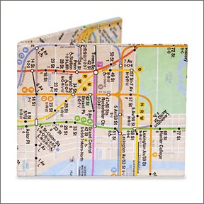 NYC Subway Map Mighty Wallet by Dynomighty