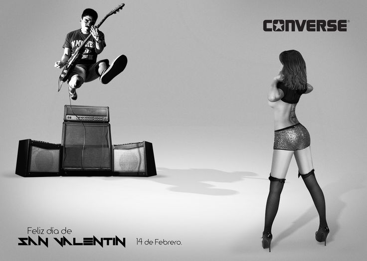 Valentine's Day print. Converse