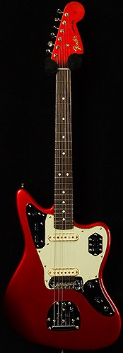 Candy Apple Red '62 Jaguar RI $1500. Red headstock is FILTHY!