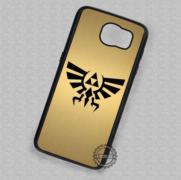 Black Symbol Zelda Triforce Golden - Samsung Galaxy S7 S6 S5 Note 7 Cases & Covers