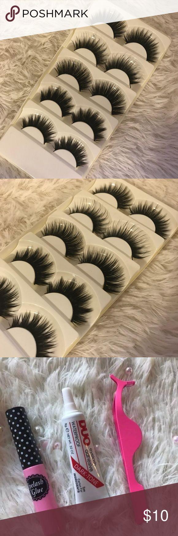 5 Eyelashes +$2 Add on eyelash Applicator +$3 Add on eyelash glue Please message me if you want to add them. # tags Iconic, mink, red cherry eyelashes, house of lashes, doll, kawaii, case, full, natural, Koko, Ardell, wispies, Demi , makeup, Iconic, mink, red cherry eyelashes, house of lashes, doll, kawaii, case, full, natural, Koko, Ardell, wispies, Demi , makeup, mascara, eyelash applicator, Mykonos Mink , Lashes , wispy ,eyelash case, mink lashes Ship within 24 hours ❣️ Makeup False…