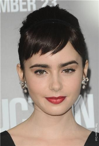 how to get lily collins eyebrows shape
