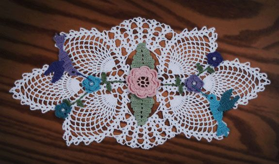 Free Crochet Christmas Doily Patterns Hummingbird Garden ...