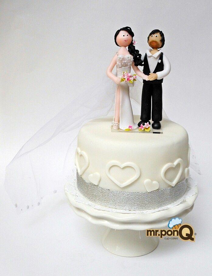Mr.ponQ cup-cakes torta y toppers en porcelanicron personalizados