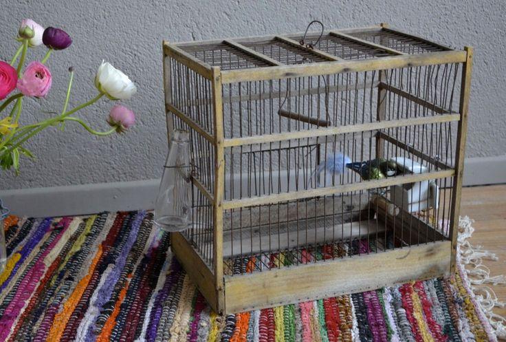 Cage à oiseaux bohème vintage rétro champêtre shabby chic déco années 40 birdcage french furniture art déco midcentury par Latelierbellelurette sur Etsy https://www.etsy.com/fr/listing/224644330/cage-a-oiseaux-boheme-vintage-retro