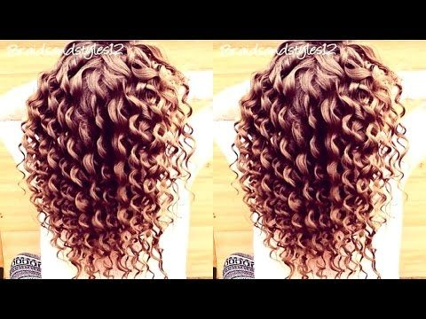 HOW TO DO SPIRAL CURLS / CURLS WITH CURLING WAND HAIR TUTORIAL - YouTube