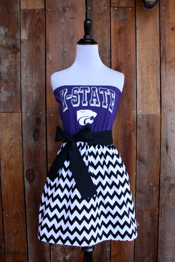 Kansas State KSU Wildcats Game Day Dress - Size Small. $45.00, via Etsy.