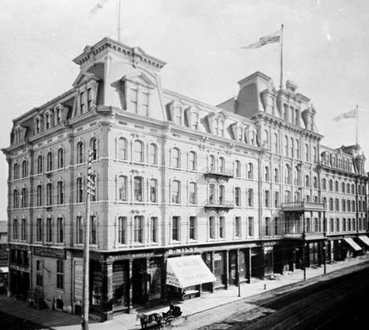 Russell Hotel 1893 - stood on the site of the Canadian War Memorial Ottawa, Ontario