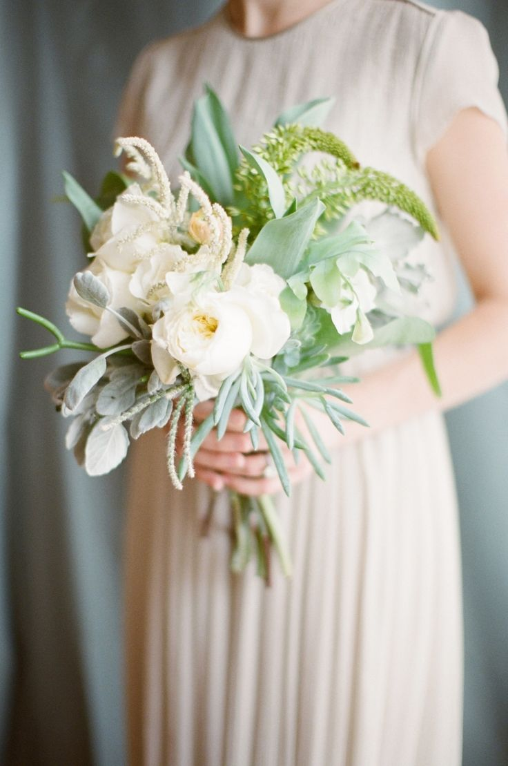 Soft garden rose and succulent bouquet by joy thigpen photography by rylee hitchner rylee - Garden rose bouquet ...