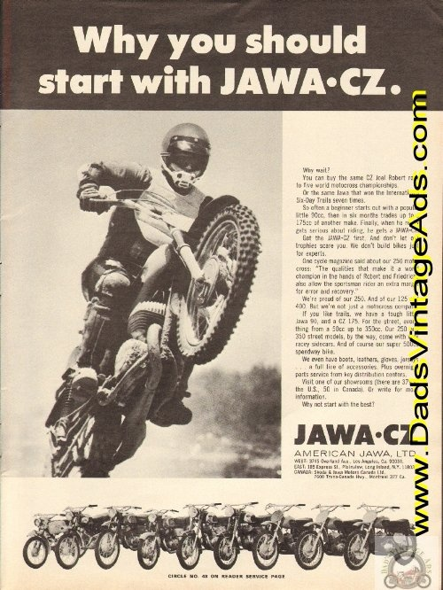 1972 Vintage Motorcycle Ad: Why you should start with JAWA CZ