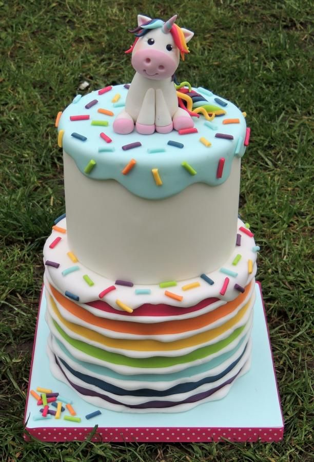 Rainbow Unicorn Cake - Cake by Shereen