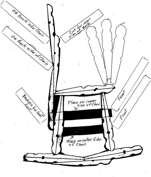 This is a guide about making a clothes pin chair. Clothes pins can be used to make cute doll furniture.