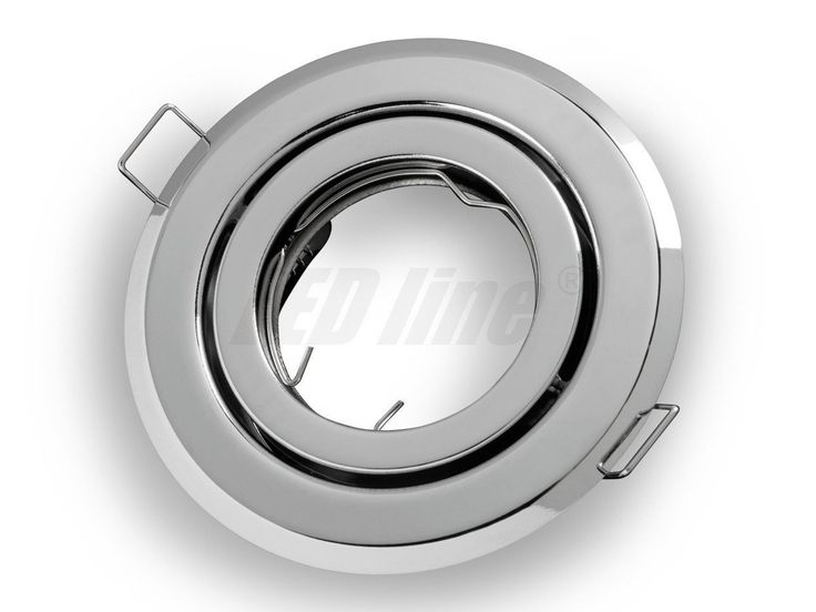 LED-Line LED / Halogen Spotlight Fitting Flush Mount Round Chrome Metal GU10: Amazon.co.uk: Lighting