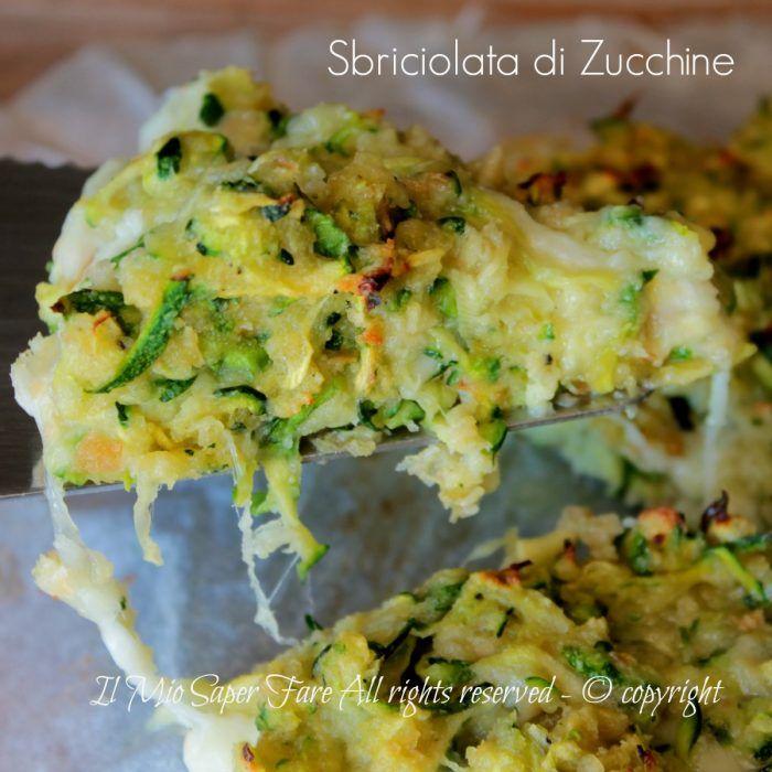Sbriciolata salata di zucchine ricetta senza farina e lievito il mio saper fare