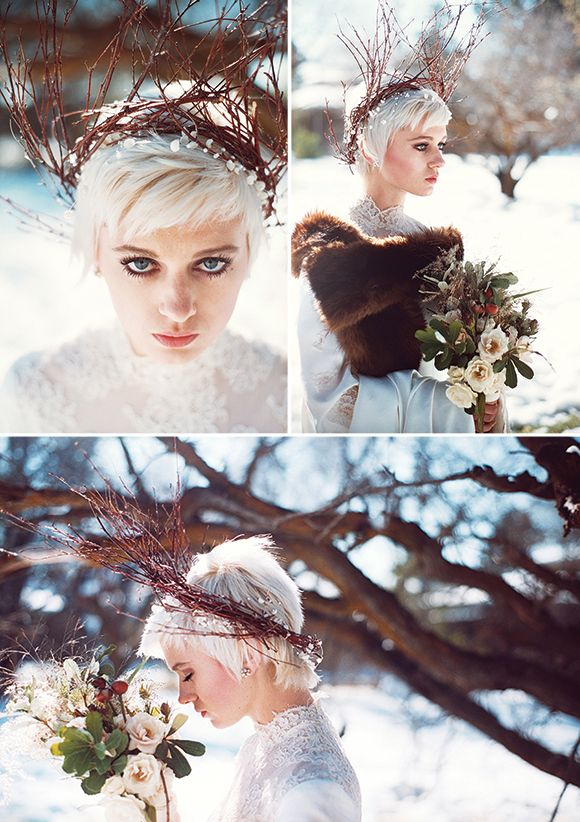 this fabulous twiggy head dress would work well here whatever the season...