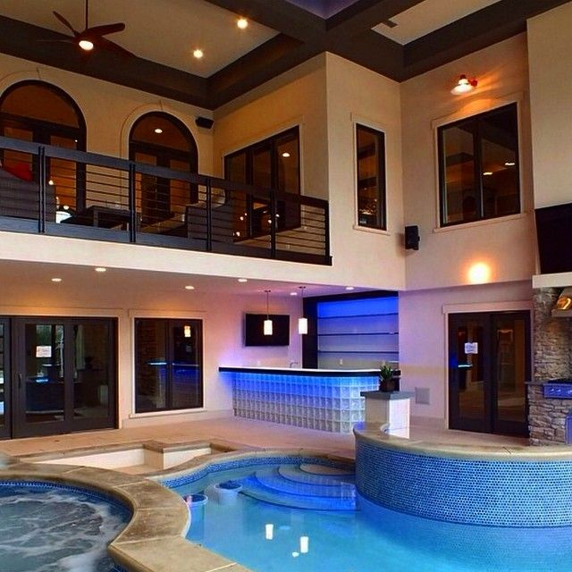 Luxury Homes With Indoor Pools 460 best pools images on pinterest | backyard ideas, pool ideas