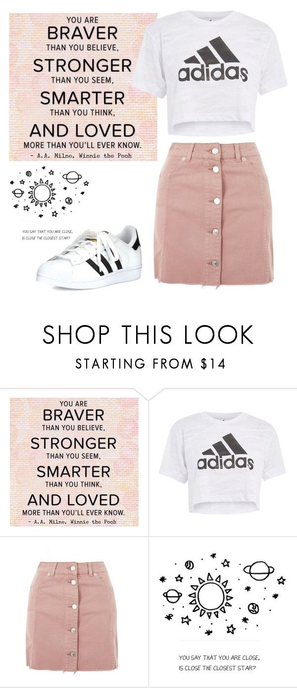 """""""You Say That You Are Close, Is Close The Closest Star?"""" by izzie-music-13 ❤ liked on Polyvore featuring Topshop and adidas"""
