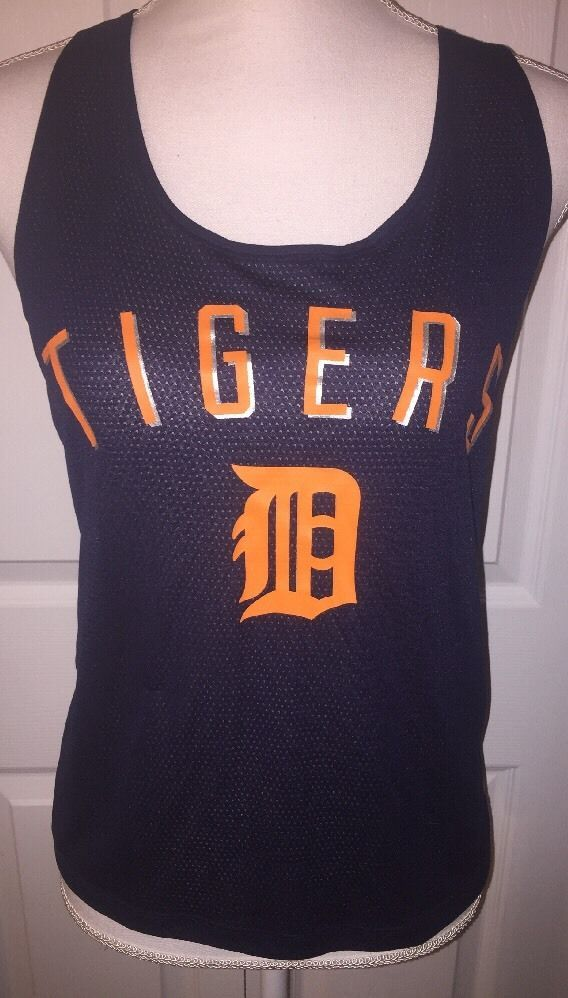 Victoria's Secret Pink MLB Detroit Tigers Medium Tank Top Mesh Blue Racerback  | eBay