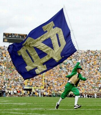 "Notre Dame Football. Woohoo we are so ready for ND football. Like the Irish? Be sure to check out and ""LIKE"" my Facebook Page https://www.facebook.com/HereComestheIrish Please be sure to upload and share any personal pictures of your Notre Dame experience with your fellow Irish fans!"