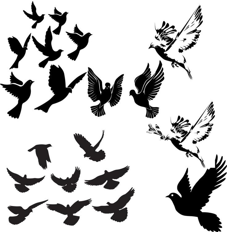 Vectores de siluetas de palomas ~ lo que quieras aqui esta