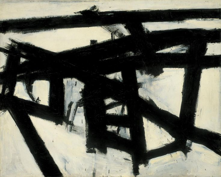 Mahoning, 1956 by Franz Kline. Action painting. abstract