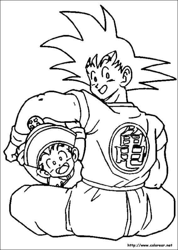 23 best Dragon Ball Z Coloring Pages images on Pinterest  Dragon