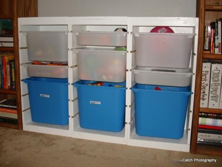 Make your own Ikea storage system-toys