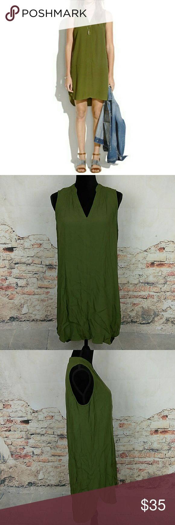 Madewell Fairsky Olive Green Tunic Dress Size Med Madewell Fairsky Olive Green Tunic Dress Size Med Madewell Dresses Mini
