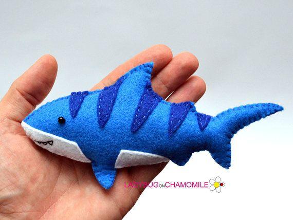 Criaturas del mar y Pescados Tela de fieltro rellena Imanes o