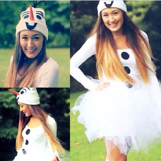 Olaf DIY Halloween Costume   Diy halloween costumes for ...  Diy Olaf Costume For Teen Girls