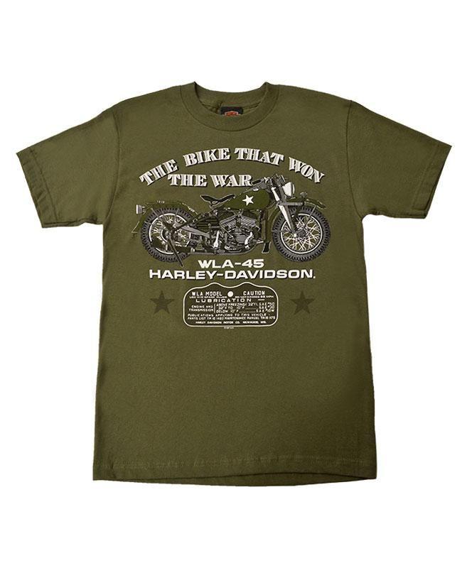 Men S Harley Davidson The Bike That Won The War Military T Shirt Green Harley Davidson Military Tshirt Black Harley Davidson