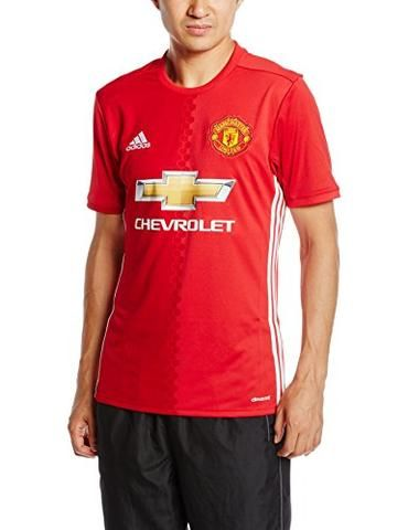 adidas Manchester United Home 2016/17Official T-Shirt, Men, Manchester United H Jsy, red / white, XL