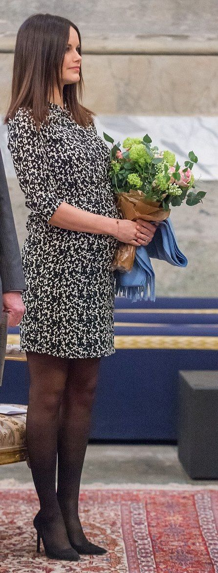 """dresscode-of-princess-sofia: """" Princesses Sofia of Sweden attended a concert at the Royal Palace in Stockholm 2016-01-20 """""""