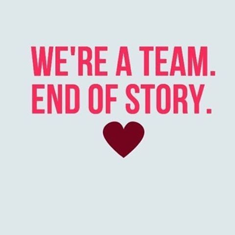 We're a team and don't need anyone else. It's our love story ❤️