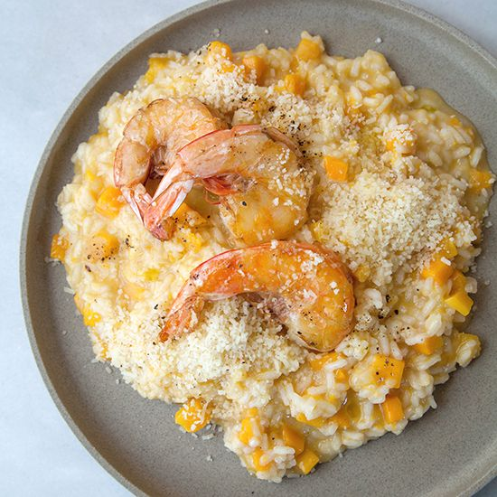 Butternut Squash Risotto with Shrimp | Food & Wine
