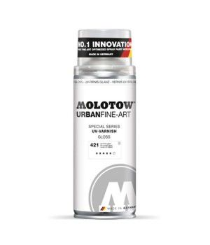 Vernis en bombe anti UV mat ou brillant Molotow 400ml