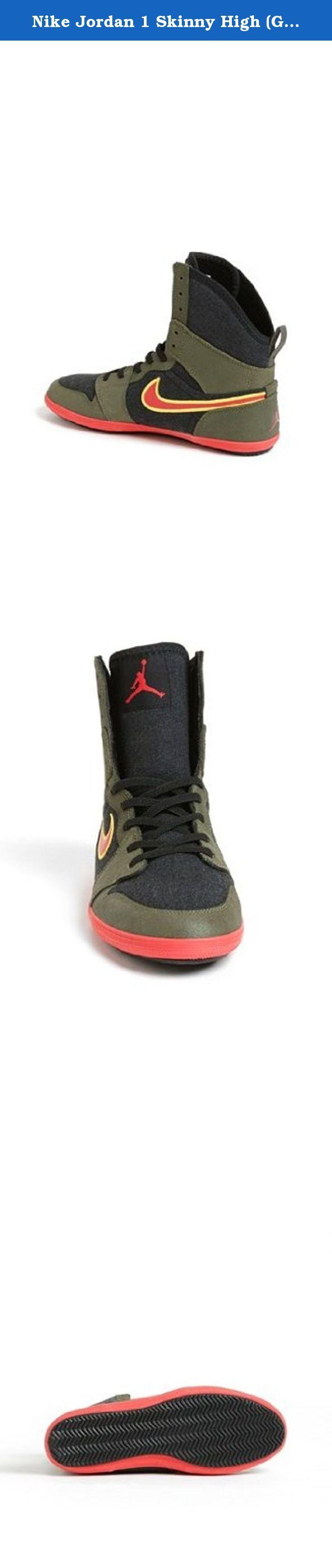 Nike Jordan 1 Skinny High (GS) Grade School Kids Shoes Color: Gym Red / White / Black 602656-601 (SIZE: 3.5Y). Nike Jordan 1 Skinny High (GS) Grade School Kids Shoes Color: Gym Red / White / Black 602656-601.