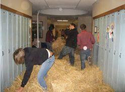Hay Filled Hallway Prank