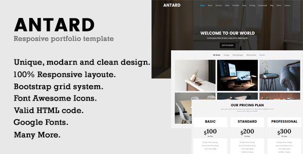 nice Antard | Responsive Portfolio HTML Template (Portfolio)