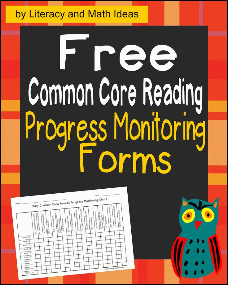 Free Common Core Reading Progress Monitoring Chart