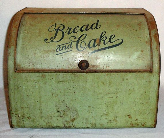 Antique Vintage and Very Rare Primitive Tin Green by clopedi