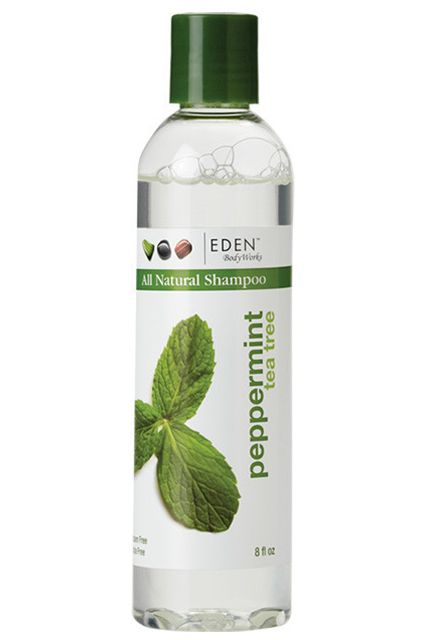 EDEN BodyWorks Peppermint Tea Tree Shampoo. If you are obsessed with peppermint, this is for you!  If you are obsessed with peppermint freshness, meet your product soulmate. This sulfate-free shampoo is infused with peppermint oil and tea-tree oil, both of which have antibacterial properties that help unclog your hair follicles while giving your scalp a refreshing, healthy feel.