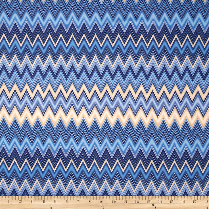 Winter's Grandeur Metallic Chevron Indigo from @fabricdotcom  Designed by Studio RK for Robert Kaufman, this cotton print features metallic foil printing throughout and is perfect for quilting, apparel and home decor accents.  Colors include shades of blue, shades of cream and metallic silver.