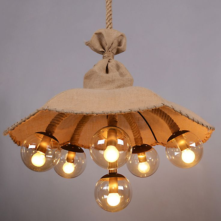 Find More Pendant Lights Information about Vintage  Lustres Rope Fabric Magic Bead Pendant Light Industrial Pendant Lamp Hanging Lamp Light Fixture Restaurant Luminaire,High Quality light house lamp,China lamp desk Suppliers, Cheap light bulb shaped lamp from Zhongshan East Shine Lighting on Aliexpress.com