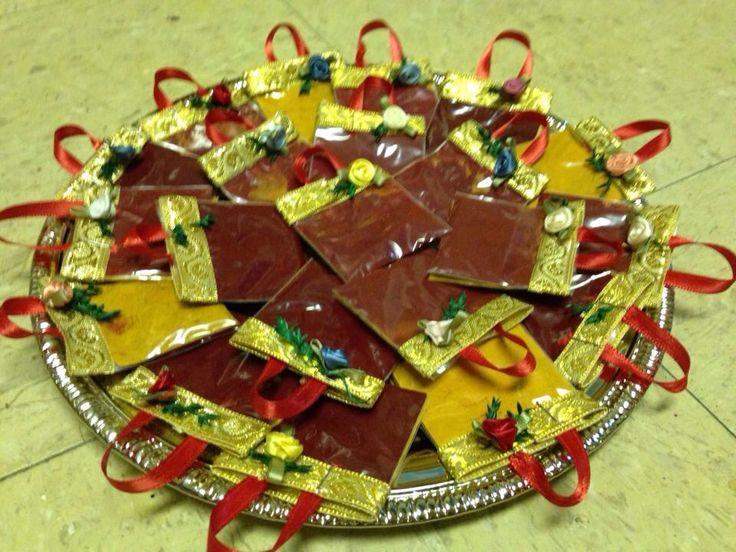 Haldi Kumkum packets in handbag model