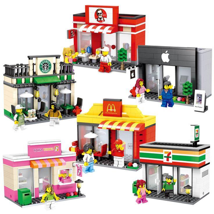 Ультра-современный мини-супермаркет макдональдс яблоко Девушка кукла модель детские развивающие детские игрушки LOZ блоки совместимы #CLICK! #clothing, #shoes, #jewelry, #women, #men, #hats, #watches